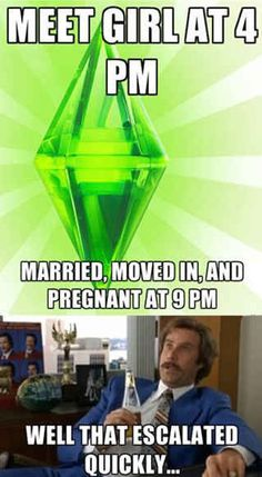 "You know the best first dates are the ones that go: awkward small talk about dollar signs and clouds, first kiss, wedding. | 18 Signs You're Addicted To ""The Sims"""