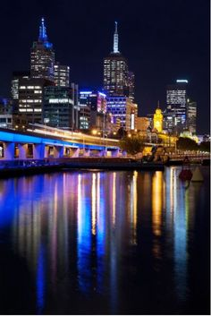 Photo about The view of Melbourne city overlooking the Yarra river at night. Image of downtown, cityscape, dusk - 21862256 Places To Travel, Places To See, Travel Around The World, Around The Worlds, Famous Places, Honeymoon Destinations, Big Island, Trip Planning, Travel Photos