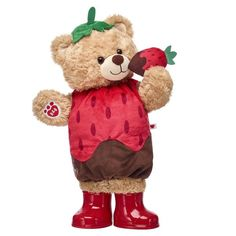 Chocolate Covered Strawberry Teddy Gift Set, Build A Bear Build A Bear Outfits, Cute Stuffed Animals, Best Kids Toys, Cute Teddy Bears, Bear Doll, Bear Art, Birthday Images, Red Riding Hood, Pet Clothes