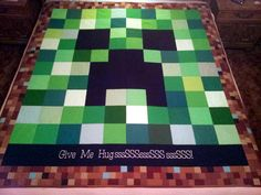 Quilt in a Day - MineCraft Monster Creeper Quilt made for DS#2 - Quilting Photos - Community Forum
