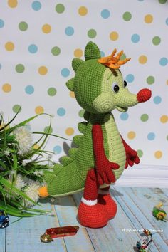 PDF Дракончик сластёна. Бесплатный мастер-класс, схема и описание для вязания игрушки амигуруми крючком. Вяжем игрушки своими руками! FREE amigurumi pattern. #амигуруми #amigurumi #схема #описание #мк #pattern #вязание #crochet #knitting #toy #handmade #поделки #pdf #рукоделие #дракон #дракончик #дракоша #дино #динозавр #динозаврик #dragon #dinosaur