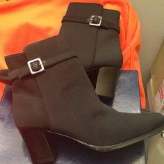 Karen Scott Black stretch nylon boots. Karen Scott Shoes Ankle Boots & Booties