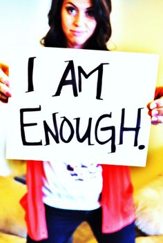 An affirmation to say all day, everyday. I Am Enough, Three Words, Transform Your Life, Favorite Quotes, Affirmations, Thoughts, Education, Motivation, Sayings