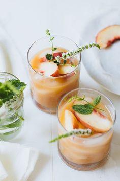 5 minute white peach margaritas. Yum! /