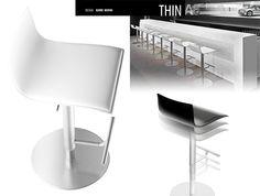 Taburete Thin de Lapalma.  Diseño: Karri Monni.  Muebles de diseño.