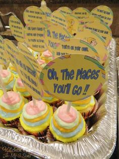 Oh, The Places You'll Go Cupcakes