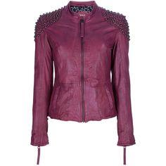 BAKERSFIELD studded leather jacket ($545) ❤ liked on Polyvore