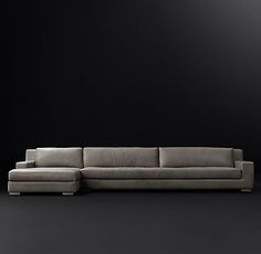 Modena Track Arm Leather Sofa | RH Modern
