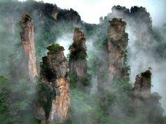 Tianmen Mountain National Park, Zhangjiajie, in northwestern Hunan Province, China
