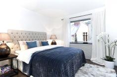 #styling #homestyling #sovrum #bedroom #dark blue #blått