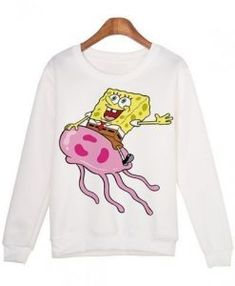 About SpongeBob Cartoon Printed Sweatshirt REW.This sweatshirt is Made To Order, we print the sweatshirt one by one so we can control the quality. Spongebob Cartoon, Printed Sweatshirts, Hoodies, Direct To Garment Printer, Trendy Outfits, Two By Two, Just For You, Graphic Sweatshirt, Unisex