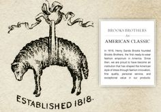 A Fashion Institution... Brooks Brothers American. Timeless. Classic  www.brooksbrothers.com