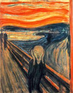 Edvard Munch, Le Cri, 1893. Huile sur toile, 91 cm x 74 cm, (C.) Galerie nationale d'Oslo