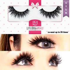 World's finest handcrafted false eyelashes made of the highest quality silk lashes and mink lashes. All products are cruelty-free. Makeup Tips, Beauty Makeup, Hair Makeup, Makeup Ideas, Hair Beauty, Silk Lashes, Perfume, Dramatic Makeup, Little Boxes