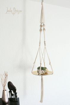 """Makramee Hänger 130 cm für verschiedene Dekoplatten und Schalen / Macrame hanger 51"""" for different deco plates and bowls von byJadaDesigns auf Etsy"""