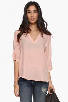 Lighter Than Air Blouse in Blush | Necessary Clothing