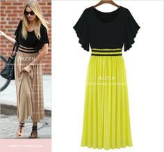 Aliexpress.com : Buy Plus size novelty dresses 2XL 3XL 4XL 5XL High Waist evening dress long Ruffle sleeve One piece Patchwork Chiffon sundresses  from Reliable dress suppliers on Zhongshan Top Fashion Store $24.90