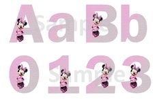 Pink Minnie Mouse Alphabet & Numbers - FREE PDF Download
