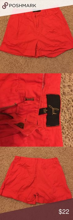 NWOT Jack High Wasted Shorts These red shorts will make any outfit pop! Never worn. I will steam press them before shipping. 100% cotton. Jack by BB Dakota Shorts