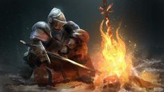 #bonfire #darksouls #knight #speedpainting #photoshop #painting #digital #art #sketch #sword #armour #fantasy #drawing #daily #sketchbook #sketch_dailies #smoke #instaart #instagood #boss #likes #picoftheday #game #speed #magic #igers #igart #fire #fantasy #dark #fanart by devilzsmile.com #devilzsmile