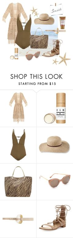 """""""Seaside Style"""" by brigitta-ruth on Polyvore featuring Melissa Odabash, Zimmermann, L.L.Bean, M&Co, Illesteva, Streets Ahead, Stuart Weitzman, Murad and onepieceswimsuit"""