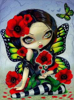 Poppy fairy - Poppy Magic  by Jasmine Becket-Griffith Big Eye Art