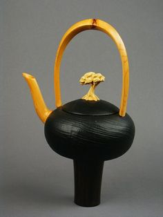 teapot, wood - Mirabelli Designs  maker from Wenatchee, WA