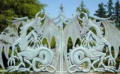 ♥♥ ۩ Dragon Gate, Sequim garden, Sequim, WA by Lori Seaman. ۩