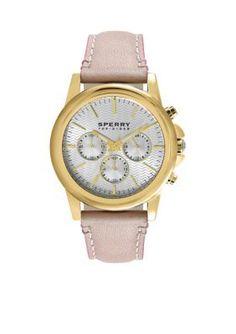 Sperry  Womens Halyard Yellow Gold IP Chronograph Watch