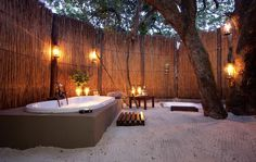 Take a candle-lit outdoor bath at Kosi Forest Lodge, #SouthAfrica! Yes please!!!