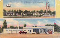 Vintage Postcard Route 66 Terminal Court by TBTooVintagePhotos