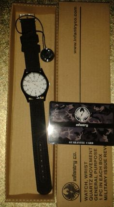 INFANTRY ARMY WATCH NEW WITH TAGS WHITE DIAL
