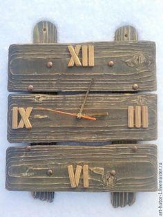 """Купить Деревянные часы """"Кантри style"""" - деревянные настенные часы, натуральное дерево, часы из дерева"""