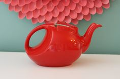 Vintage Red Teapot Made By Halls