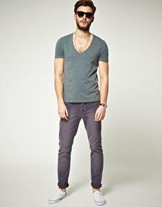 Enlarge ASOS T-Shirt With Deep V Neck