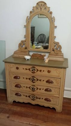 Check out this item in my Etsy shop https://www.etsy.com/listing/234945268/antique-dresser-with-swing-mirror