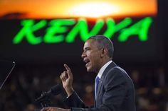 President Barack Obama delivers a speech at Safaricom Indoor Arena, in Nairobi, July 26, 2015