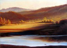 "Original Landscape Painting ""Sunrise on Vega"" by Nancee Jean Busse,Painter of the American West"