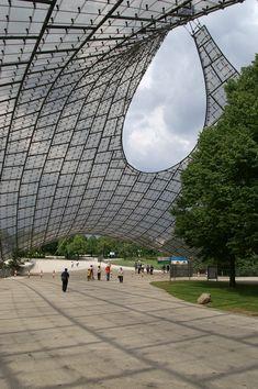 En perspectiva: Frei Otto,Estadio Olímpico de Munich. ImageImágen © Wikimedia Commons