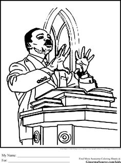 black history coloring pages martin luther king jr - Hobbit Dwarves Coloring Pages