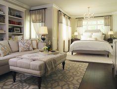 Laura Stein - Toronto - Canada - Interior Designer - Dering Hall - Bedroom - Master Bedroom - Neutral - Transitional - Padded Headboard - Ottoman