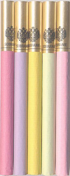 Sobranie (cigs are never glamorous really, but these would be if made out of sugar!)