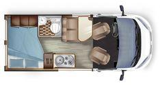 Survival camping tips Van Conversion Campervan, Van Conversion Layout, Cargo Van Conversion, Van Conversion Interior, Interior Motorhome, Van Interior, Camping Car Fiat, Vintage Camper Redo, T5 Bus