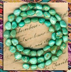 """Mexican Campo Frio Turquoise BEADS100 Natural 16""""Strand Genuine Color 