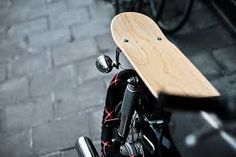 Interesting skateboard motorcycle seat