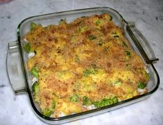Broccoli Casserole, makes me a happy girl!  Steam 2 bags of broccoli, chop and put in a bowl.  Add 2 cups of cooked rice, one can cream of chicken, 1 cup of mayonnaise, a 1/2 cup of sharp cheddar, 1/2 stick of butter, salt, pepper, and garlic powder.  Mix well.  bake uncovered for 30 min (or until done) at 375.  Remove from oven, stir thoroughly, then top with more cheddar or a cracker topping and cook for an additional 5-10 min.  Tip: Make it a meal by adding chopped chicken.
