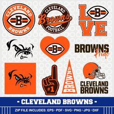 Cleveland Browns SVG, Brwons Football, Svg Cameo, DXF File, Cleveland Browns, Monogram, Svg Cameo, Browns Clipart, SVG-22