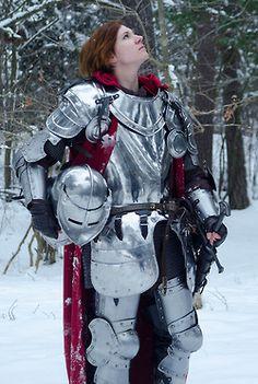 snow female Knight armor armour larp woman knight female knight
