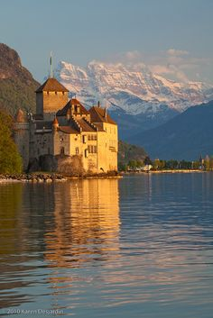 In her travels to Switzerland in The Wishing Rock Theory of Life, Gran also visits the Chateau de Chillon. It's a spectacular castle, every room is magnificent. If you go, be sure to climb the steep ladders to the very top of the tower for a great view!