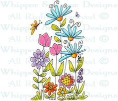 My Garden - Whimsical - Floral/Garden - Rubber Stamps - Shop